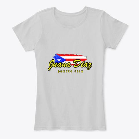 Juana Diaz Puerto Rico Shirt Light Heather Grey T-Shirt Front