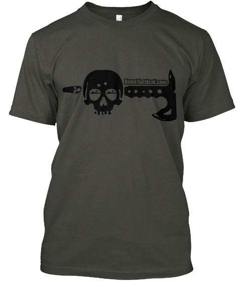 Bone Hawk Skull Smoke Gray T-Shirt Front