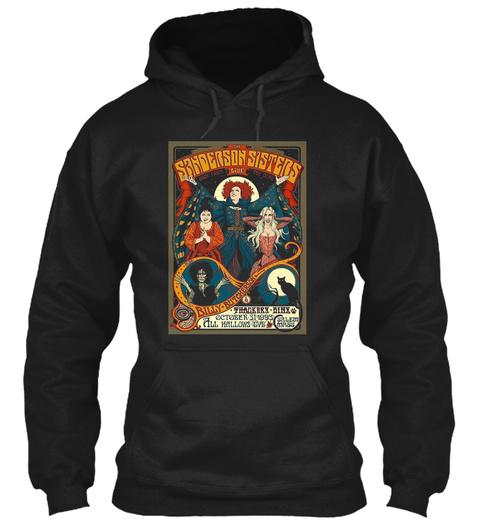 Sanderson Sisters Tour Poster Black T-Shirt Front