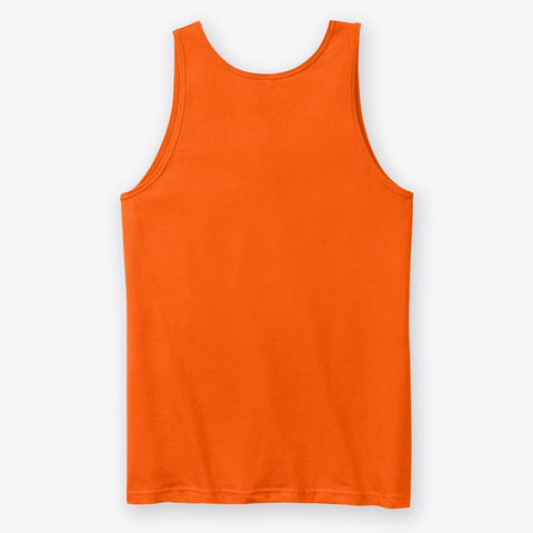 Rhythm Bastard 80's Logo Tank Orange T-Shirt Back