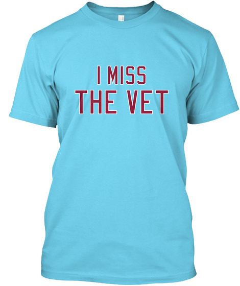 Naming Wrongs: Vet (Blue) Tahiti Blue T-Shirt Front