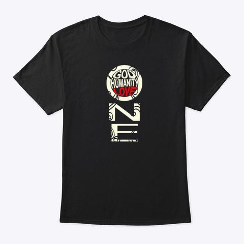 Oneness Shirts (Drk) Black T-Shirt Front