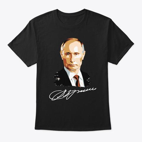 Putin Signature Black T-Shirt Front