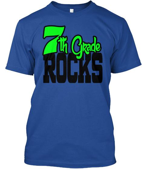7th Grade Rocks Deep Royal T-Shirt Front
