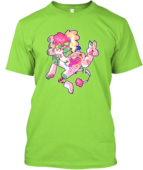 P9 Candygore Tee/Hoodie Lime T-Shirt Front