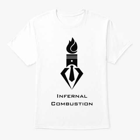 Black On White White T-Shirt Front