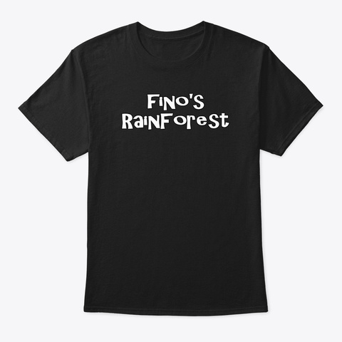 Fino's Rainforest T Shirt Design #2 Black T-Shirt Front