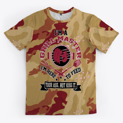 Grill Master Military Camouflage Pattern Standard Kaos Front
