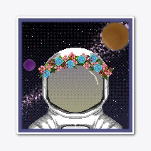#93   Flower Astronaut  Standard T-Shirt Front
