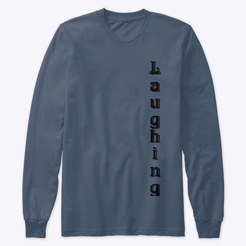 Laughing Professor Brand Indigo T-Shirt Front