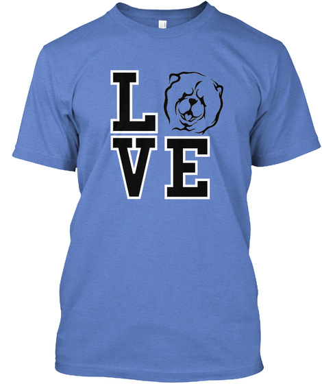 Love  Heathered Royal  T-Shirt Front