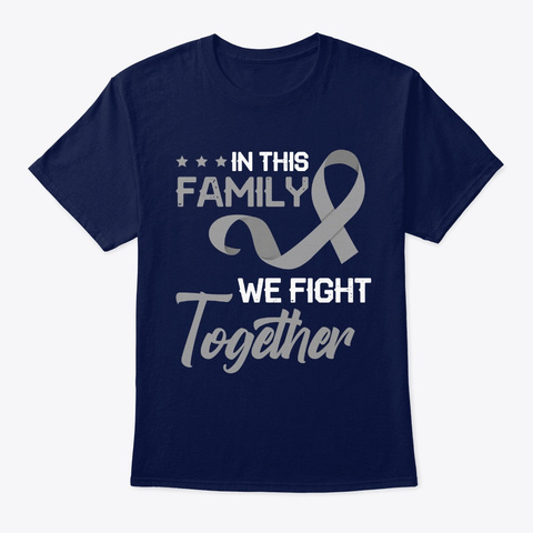 In This Family We Fight Together Navy T-Shirt Front