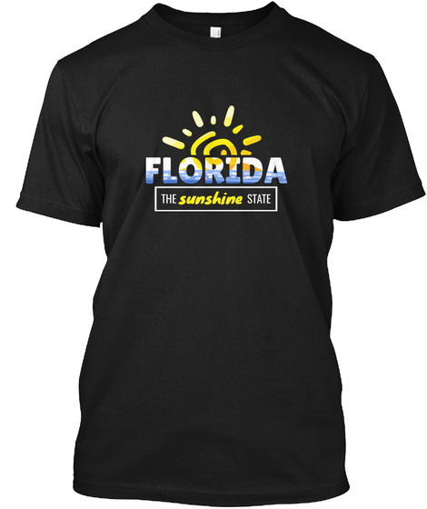 Florida The Sunshine State Black T-Shirt Front