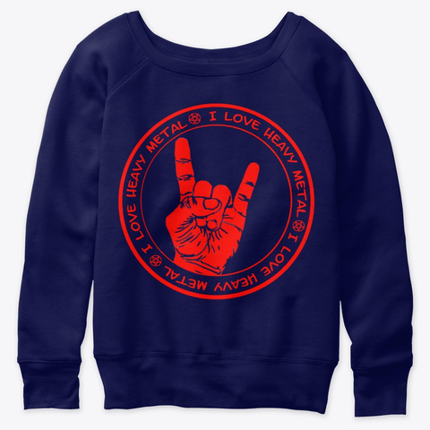 Hoodie And Sweatshirt Navy  T-Shirt Front