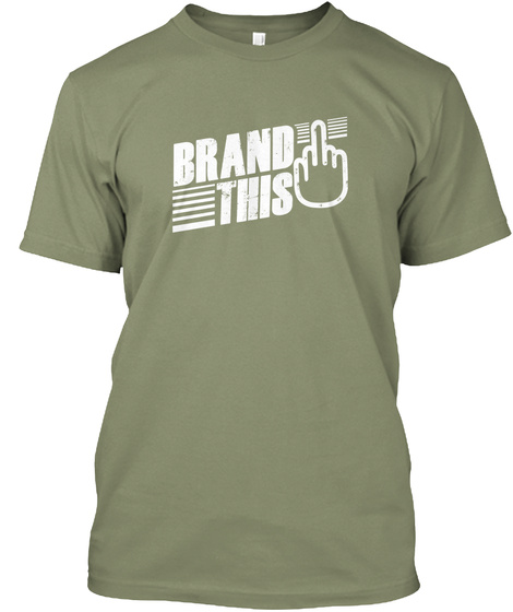 Brand This Light Olive T-Shirt Front