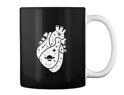 Space Heart 1 Mug [Int] #Sfsf Black Mug Back