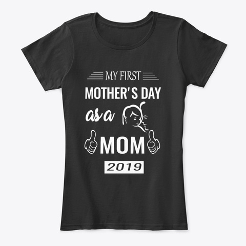 Mothers Day  T Shirts Black Women's T-Shirt Front