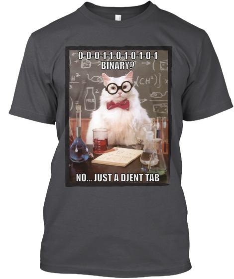 Djent Tab Tshirt   Professor Cat Charcoal T-Shirt Front