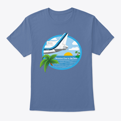 Vacation To The Sun! Denim Blue T-Shirt Front
