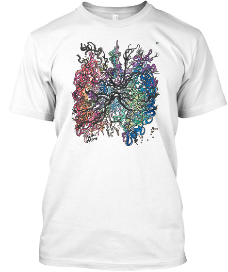 """""""Your Brain"""" Mental Health Awareness White T-Shirt Front"""