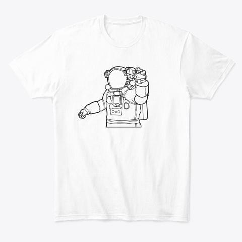Astronaut (Unisex T Shirt) White T-Shirt Front