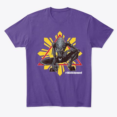 #Filipinosquad Mythical Tikbalang Purple T-Shirt Front