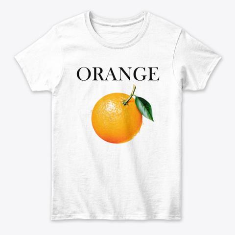 Orange Art White T-Shirt Front