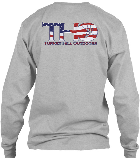 Tho Turkey Hill Outdoors Sport Grey Long Sleeve T-Shirt Back