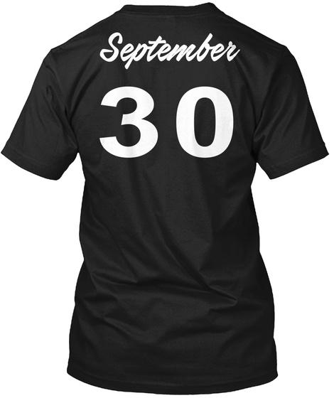 September 30   Libra Black T-Shirt Back