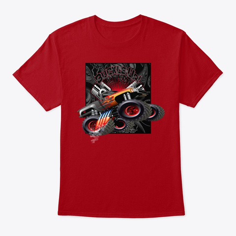 Off Road Truck Tee Shirt Deep Red T-Shirt Front