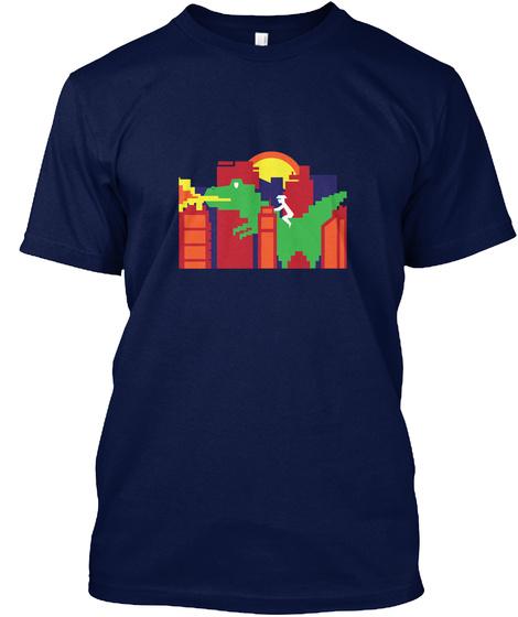 Godzilla Gone Wild Navy T-Shirt Front