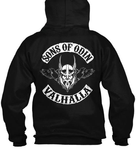 Sons Of Odin Valhalla Black T-Shirt Back