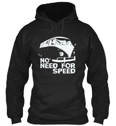 No Need For Speed Black T-Shirt Front