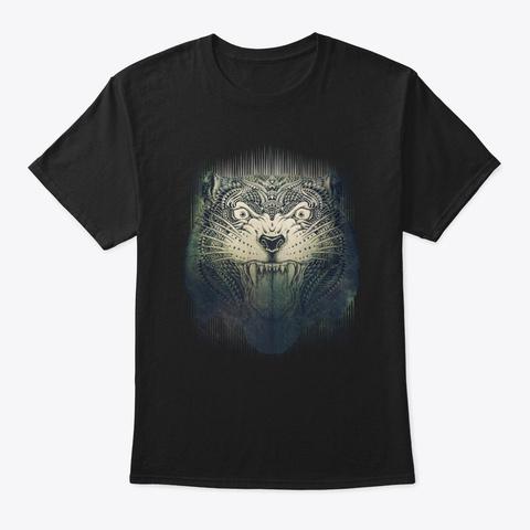 The Elder Tiger Black T-Shirt Front