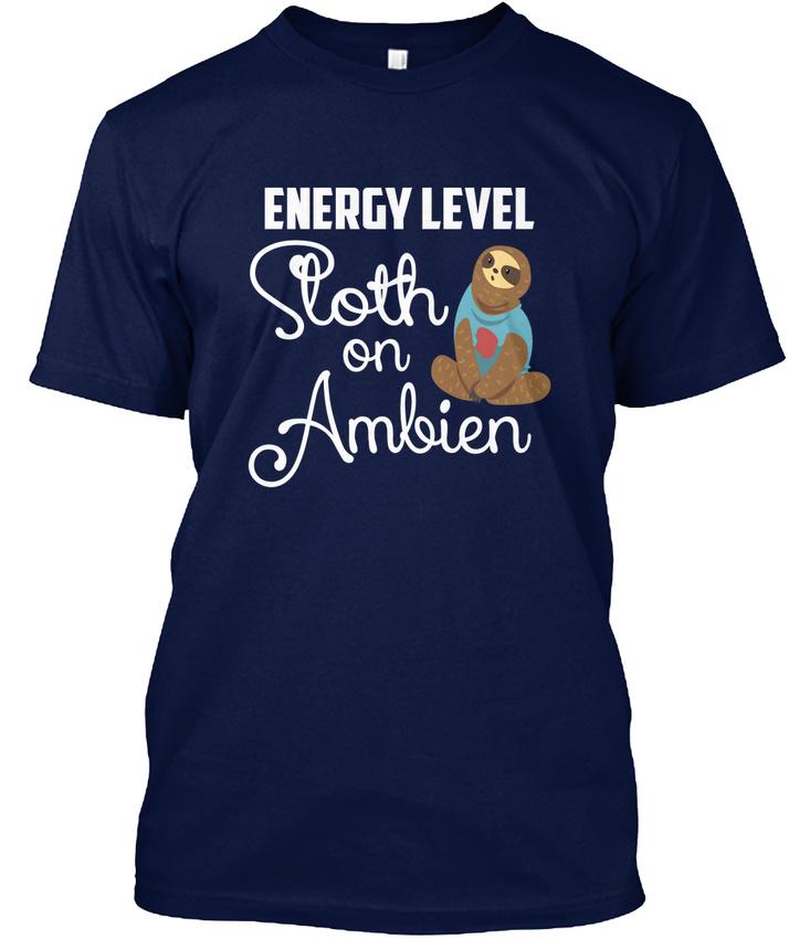 Energy Level Sloth On Ambien Hanes Tagless Tee T-Shirt 1