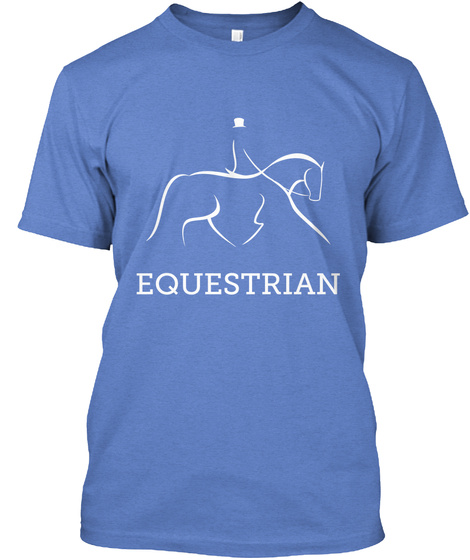Equestrian Heathered Royal  T-Shirt Front