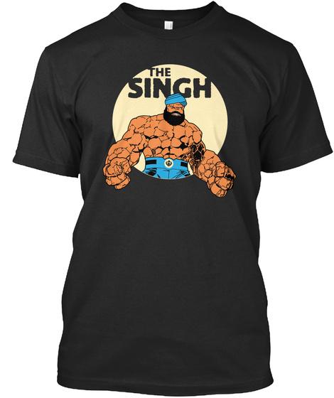 The Singh  Black T-Shirt Front