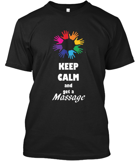 Keep Calm Generic Black T-Shirt Front