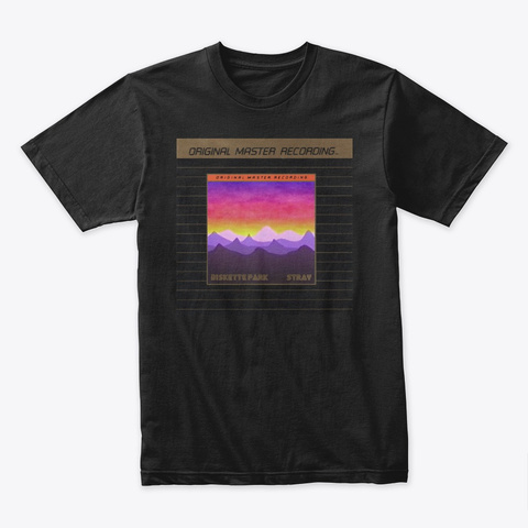 Diskette Park   Stray Lp T Shirt Black T-Shirt Front