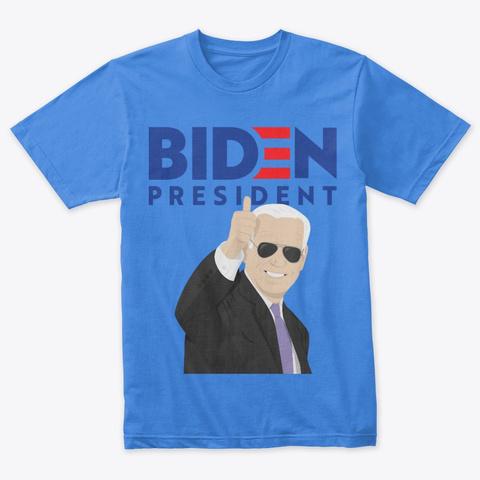 Joe Biden For President 2020 Shirt Vintage Royal T-Shirt Front