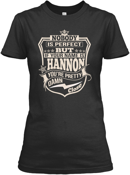 Nobody Perfect Hannon Thing Shirts Black T-Shirt Front