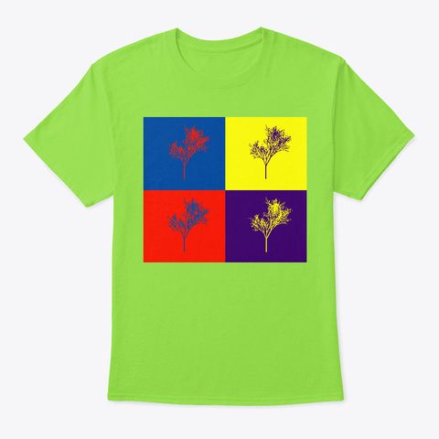Tree Four Lime T-Shirt Front