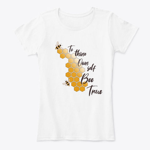 Bee True White T-Shirt Front