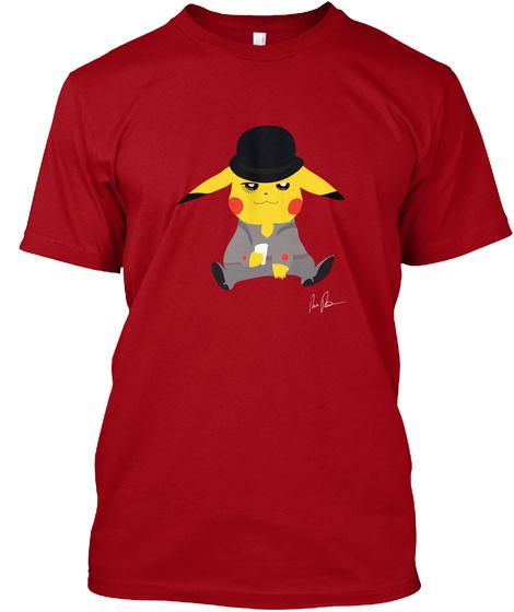 Clock Work Fan Art Deep Red T-Shirt Front