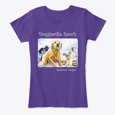 Doggieville Womens Purple T-Shirt Front