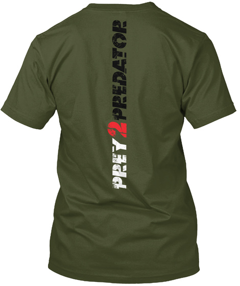 Prey2predator Military Green T-Shirt Back
