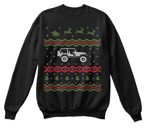 Tj Ugly Christmas Sweatshirt Black T-Shirt Front