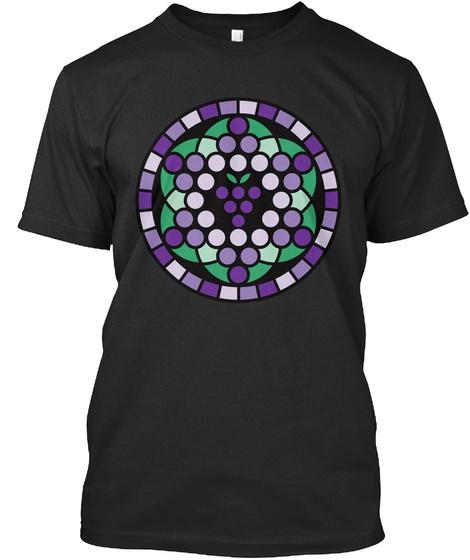 Grape Of Life Black T-Shirt Front