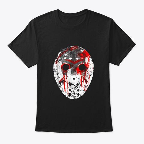 Friday 13th Shirt Jason Bloody Mask Black T-Shirt Front