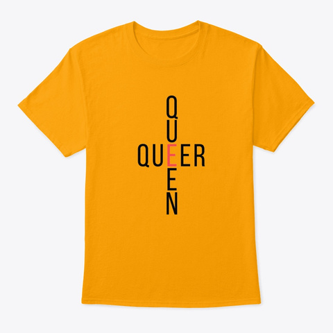 Queer Queen   Queerdom Coll. Gold T-Shirt Front